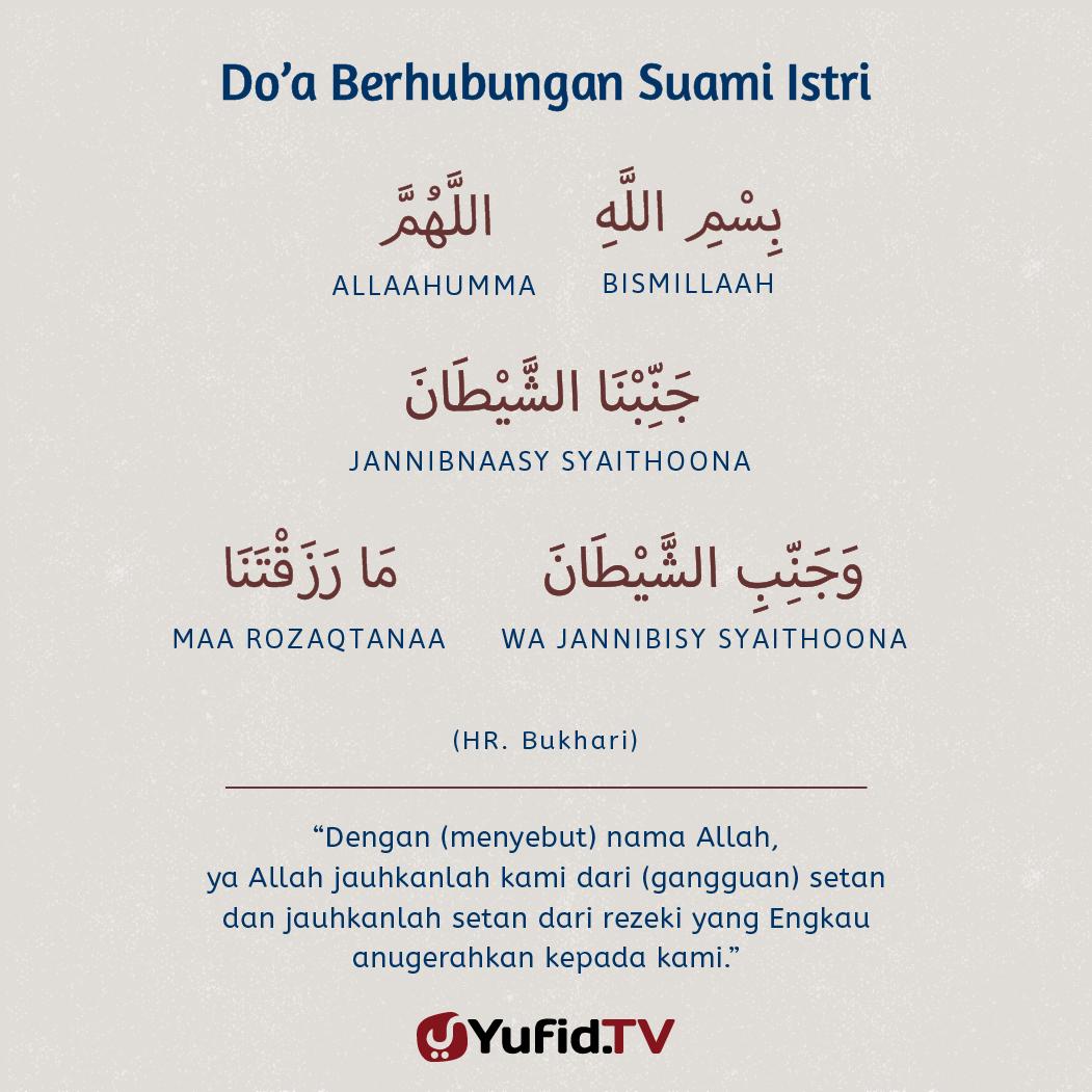 Ensiklopedia Islam Doa Berhubungan Suami Istri