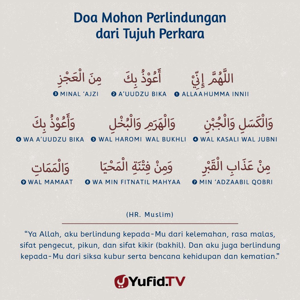 Doa Mohon Perlindungan dari Tujuh Perkara