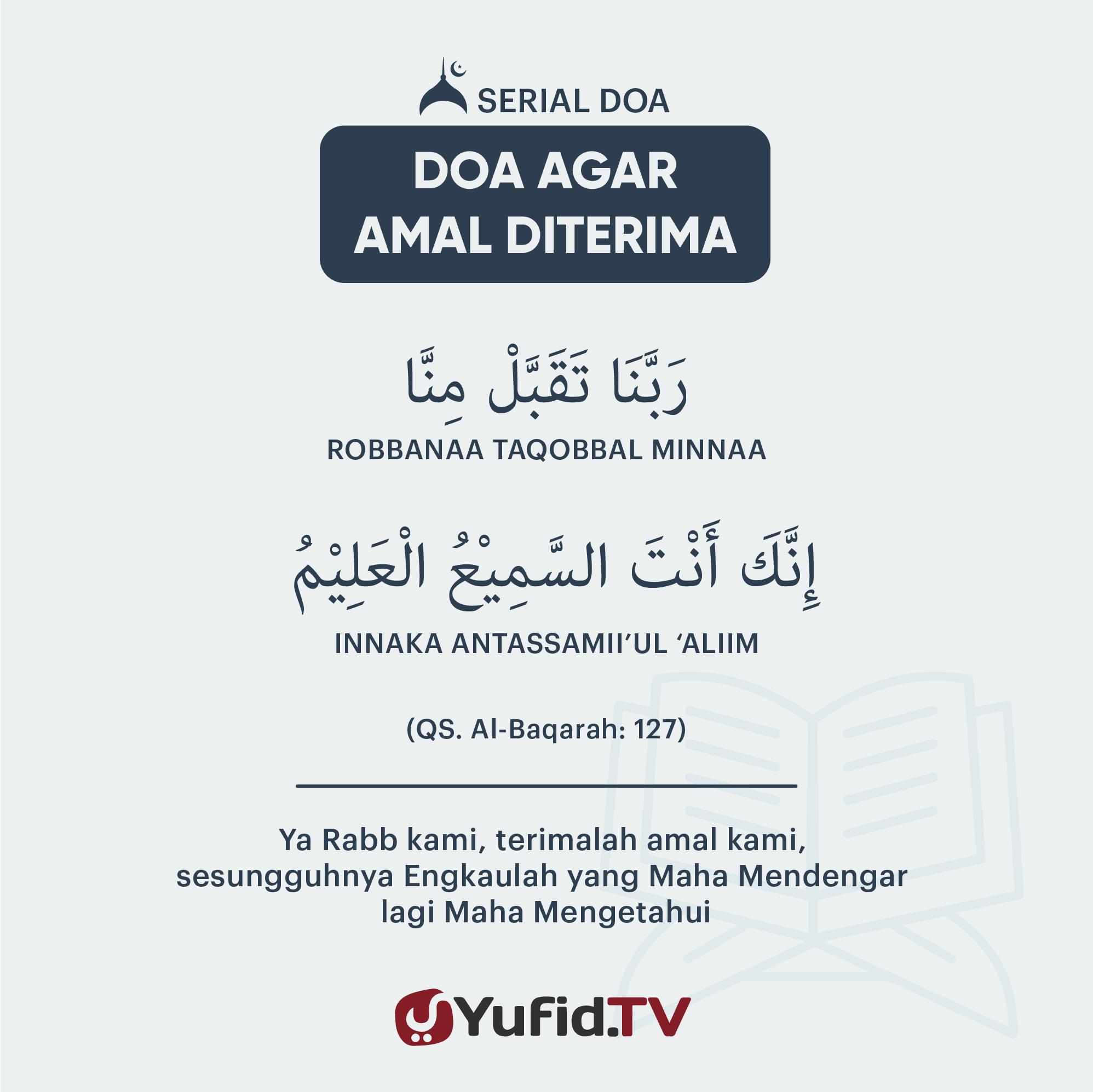 Doa Agar Amal Diterima