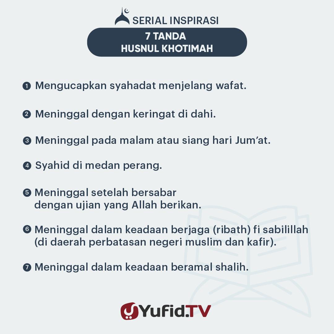 Tujuh Tanda Husnul Khotimah