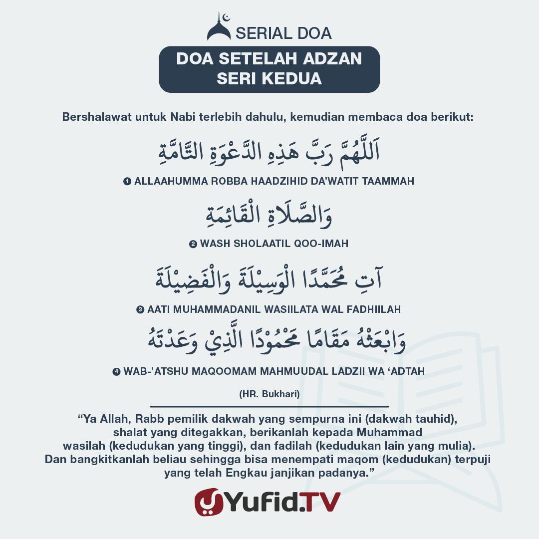 Doa Setelah Adzan: Seri Kedua