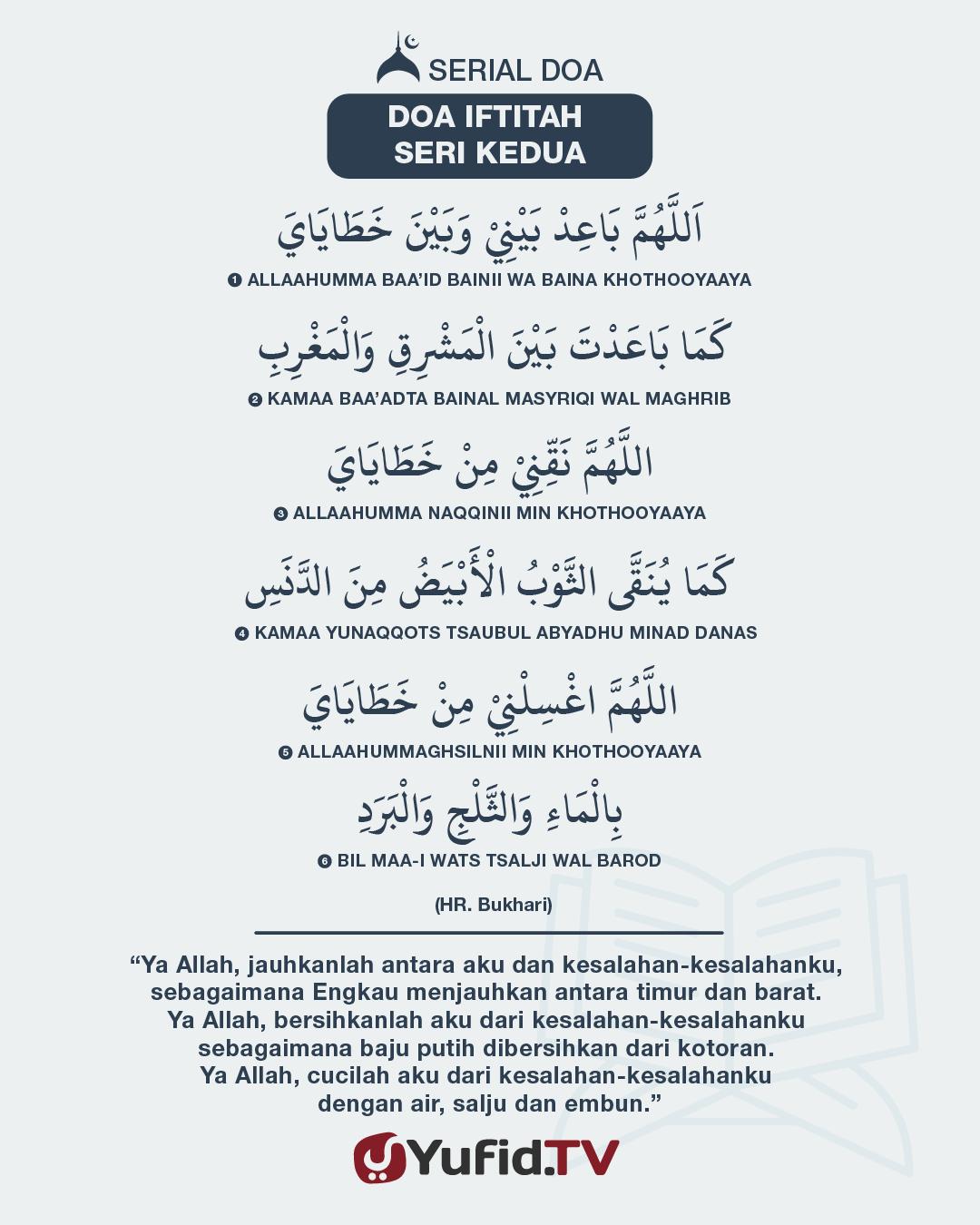 Serial Doa Iftitah: Seri Kedua